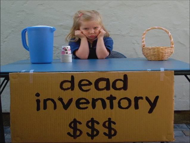 often, inventory is dead and you need to find buyers you did not know existed
